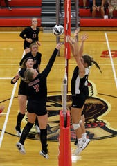 River View and Coshocton played in volleyball this school year. Sports and other extra curricular activities could be scaled back, need more public help or be cut altogether if an income tax levy does not pass in the fall general election.