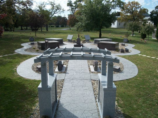 The Butterfly Garden for cremated remains at Roselawn Memorial Park Cemetery in Monroe County.