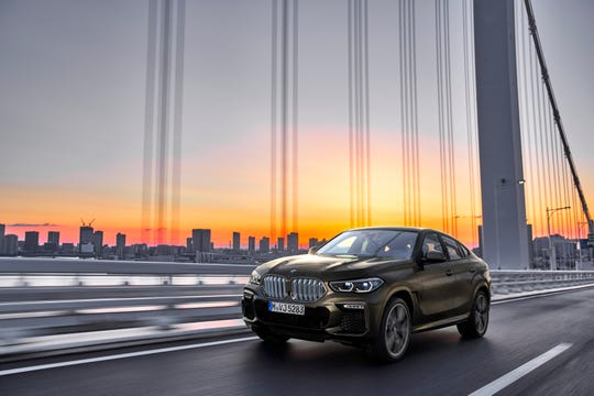 The new BMW X6 SUV debuts at the Frankfurt auto show in Germany.