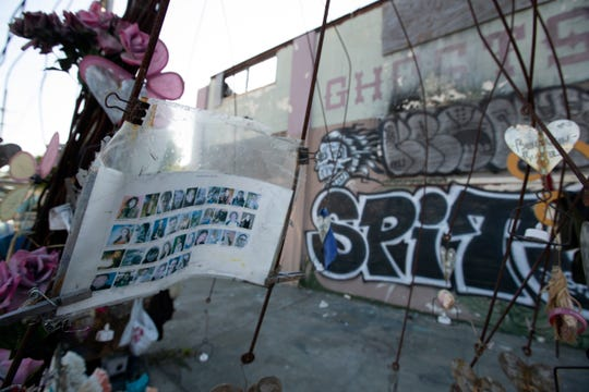 Makeshift memorials erected to the victims of the Ghost Ship warehouse fire, photographed Thursday, Sept. 5, 2019 in Oakland, Calif. Jurors found defendant Max Harris not guilty of involuntary manslaughter and were unable to reach a verdict in the case against co-defendant Derick Almena.