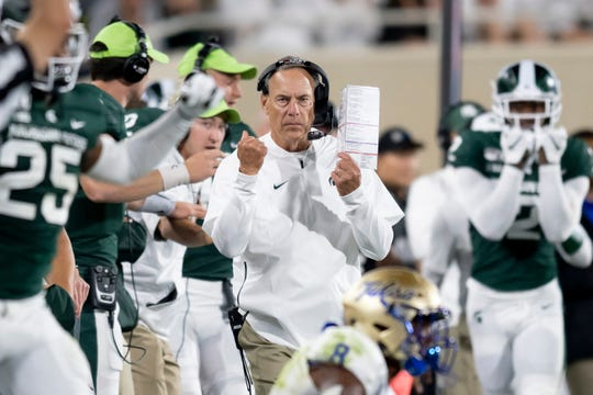 Michigan State coach Mark Dantonio is hoping to see a better performance from his offense this weekend.