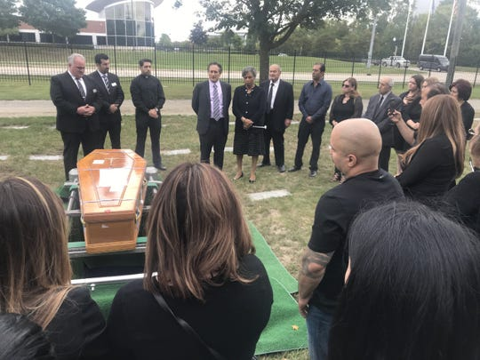 U.S. Reps Andy Levin and Brenda Lawrence attend Jimmy Aldaoud's burial telling the family they will never forget him or their family's story.