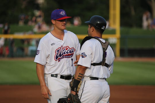 Ty Hensley, left, was a first-round draft pick by the New York Yankees.