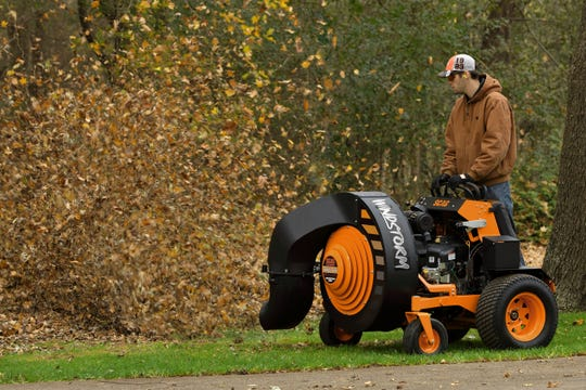 A Division of Metalcraft of Mayville, Scag Power Equipment has created the Windstorm, a stand-on blower that can blow leaves, sand, dust and more. It is nominated for the 2019 Coolest Thing Made in Wisconsin contest.