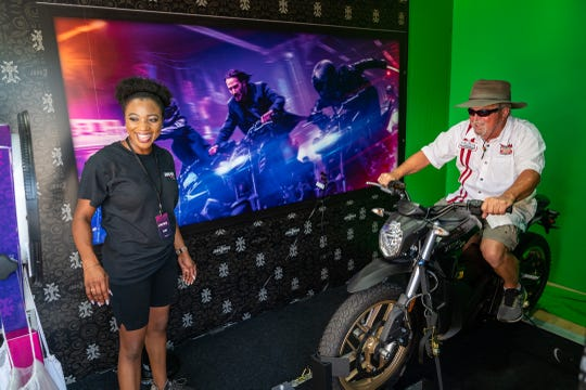 """John Wick"" fans will be able to escape an army of assassins with a John Wick motorcycle green screen from 8 a.m. to noon Sept. 15 outside Lambeau Field."