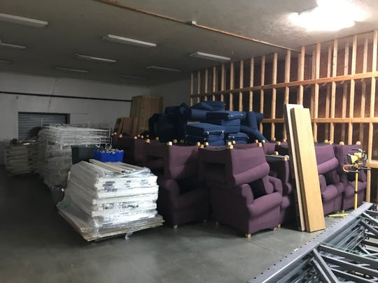 Space in Greater Green Bay Habitat for Humanity's new office and ReStore complex has already started to fill up with donations, like these chairs from the University of Wisconsin-Green Bay.