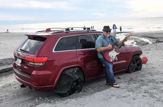 Musician Stan James Gregory said he wanted to see the internet-famous Jeep in Myrtle Beach on Friday, Sept. 6, 2019. His wife, Paula, got a photo of him for his website.