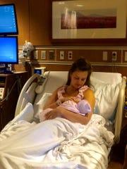 Saara Aho and her hurricane baby