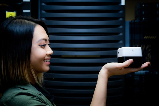 The University of Guam is helping NTT Docomo test its latest AI technology, which may eventually improve security on the campus. The PLEN Cube is programmed to remember people who cross its path and could potentially be used to track attendance.