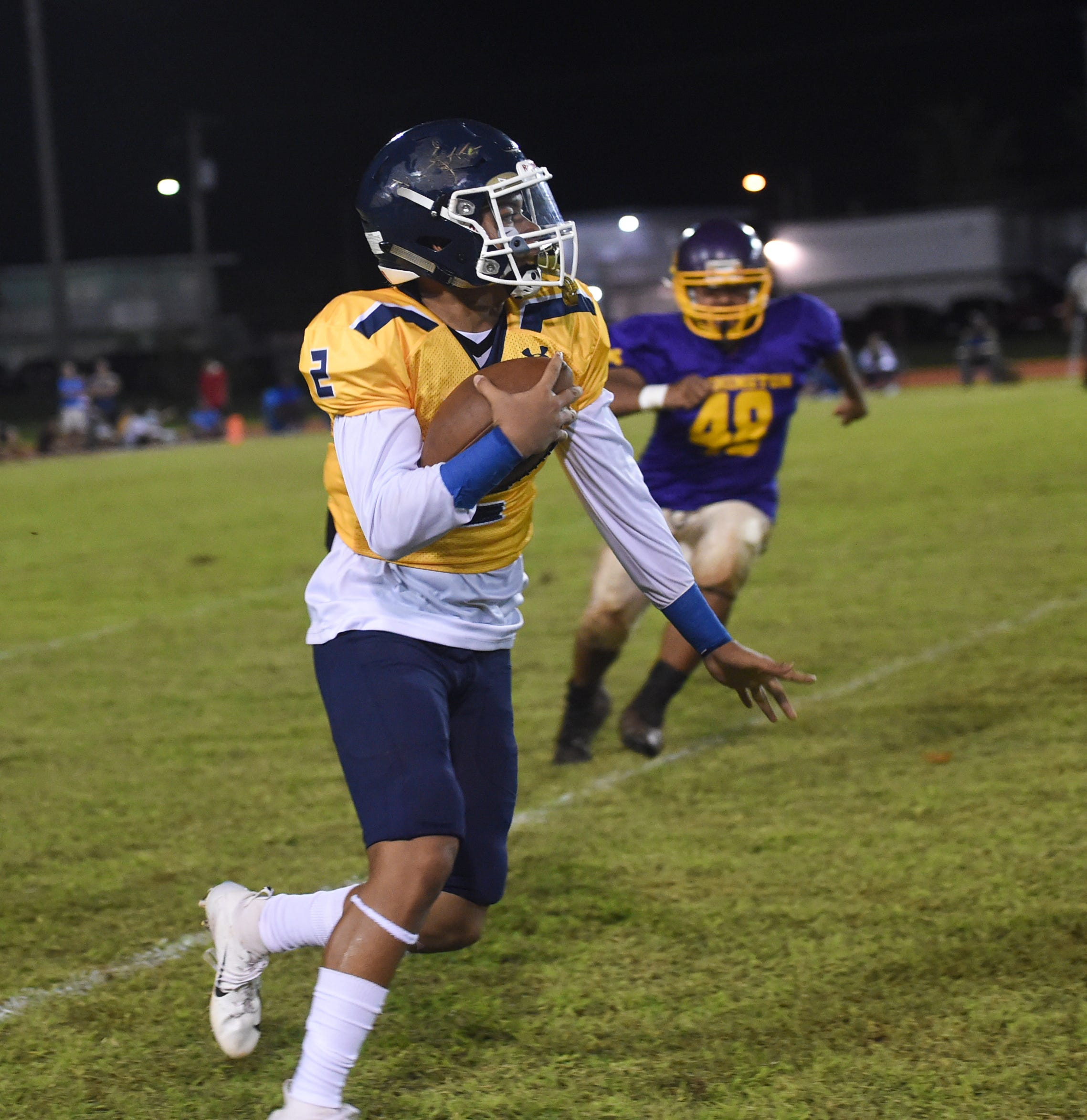Guam High Panthers quarterback Travon Jacobs now plays for Ryan Rios and the Raptors - just for one game, the Triple J High School Football All-Star game Nov. 9.