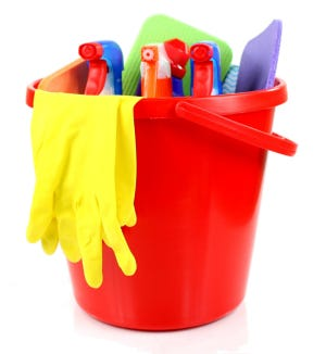 Cleaning supplies can be safely recycled at the Henderson County Recycling Center on Sept. 21, 2019