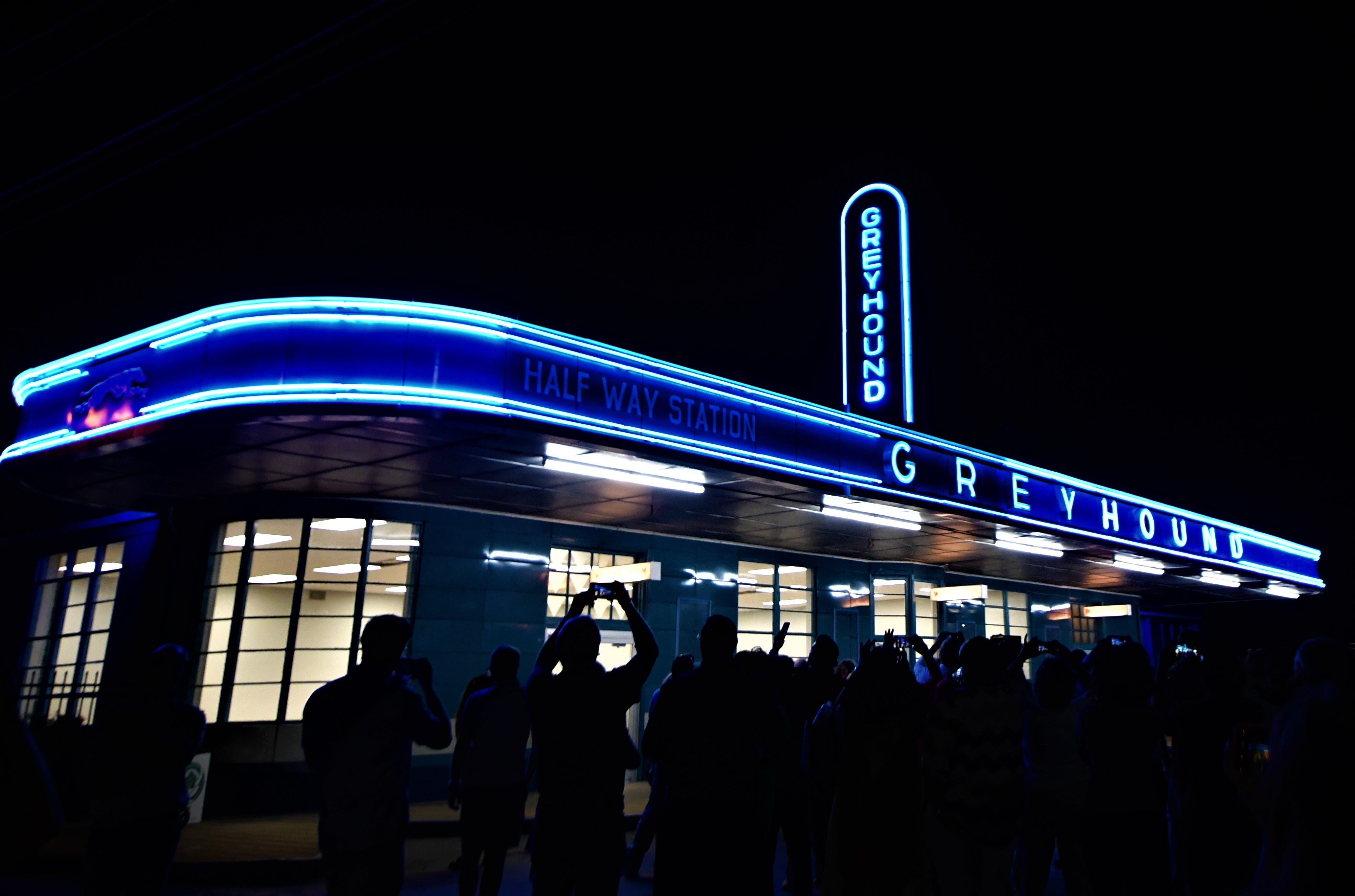 Jackson Greyhound Station Lights Up Downtown For First Time In 70 Years