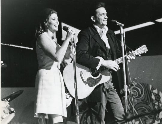 June Carter and Johnny Cash, June, 1970.
