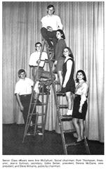 A photo of the senior class officers for 1969.