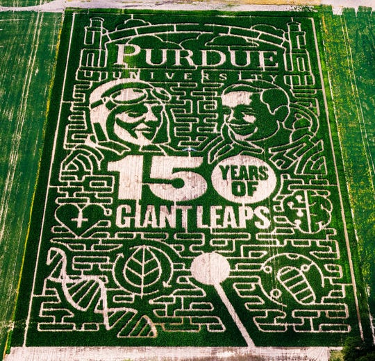 Exploration Acres' Purdue-themed corn maze won USA Today's readers' choice best corn maze, Purdue News Service announced on Friday.