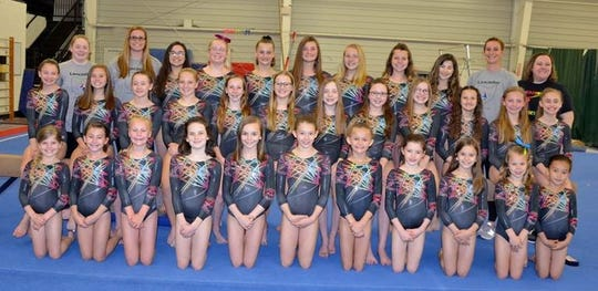Thirty-two members of the Robert K. Fox Family YMCA Gymnastics Team recently competed at the YMCA Nationals Gymnastics Championships.