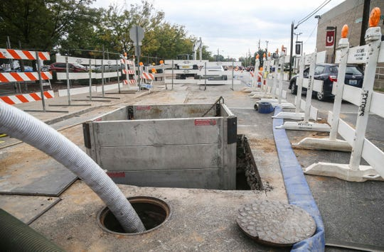 MSD is working on multiple cave-in sites, including one at South Hancock Street and East Madison Street as well as one on 4th Street between Main and Market streets.