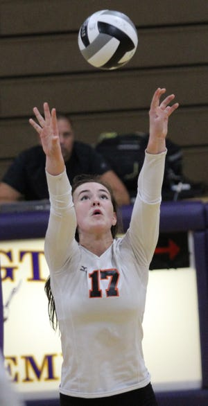 Ashland's Karli Shepherd collected 13 kills in a 3-0 win over Mansfield Senior in OCC volleyball last week. She also added six aces and seven digs to help the Lady Arrows keep pace in the OCC race.