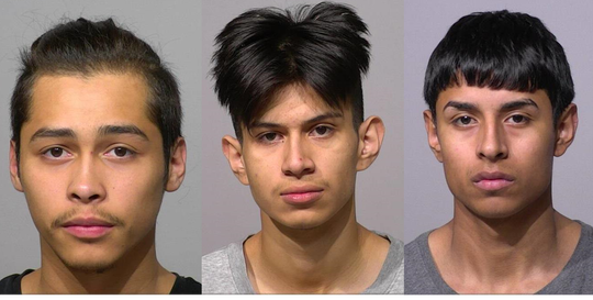 Ernesto S. Garcia, 18, Fabian Israel Herrera, 19, and Jovany Jeronimo, 17, all of Milwaukee.