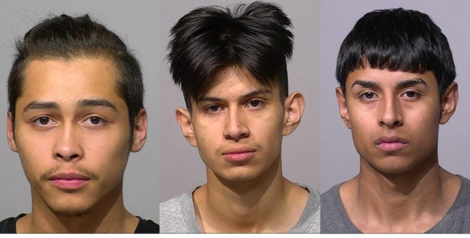 Ernesto S. Garcia, 18, Fabian Israel Herrera, 19, and Jovany Jeronimo, 17, all of Milwaukee.