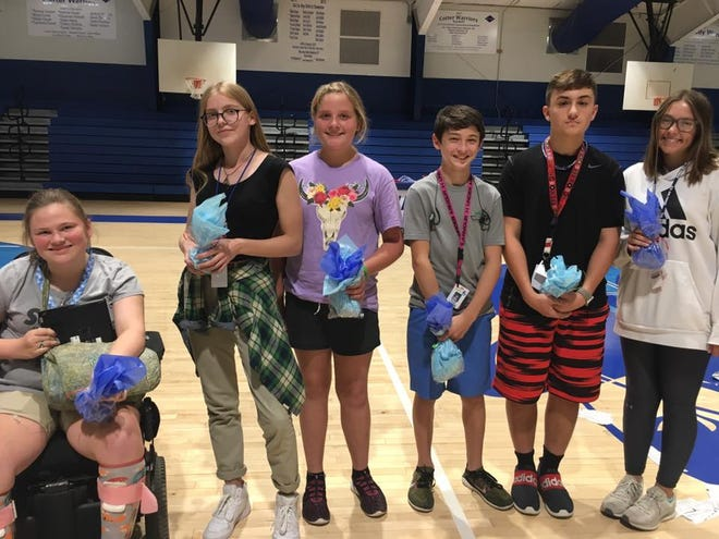 Cotter Public Schools have announced their students of the month for August. Honored were: Anna Haynes, 11th grade; Logan Principato, ninth grade; Brayden Adams, seventh grade; Madi Wood, eighth grade;Maria Korotkina, 10th grade; andKaylee Ferguson, 12th grade.