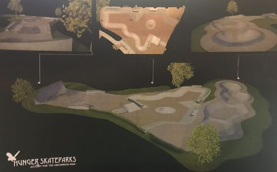 Ryan Lenard provided the Monroe City Council with examples of skatepark designs developed for Ruston's old city pool while presenting potential options for a skatepark at Forysthe Park.