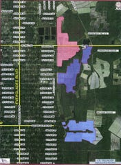 A map shows the location of three proposed villages in rural Collier County.