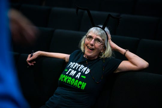 Director Janina Britolo talks with her actors during a rehearsal for 'Every Creeping Thing', Thursday, Sept. 5, 2019, at The Moe Auditorium at The Center for Performing Arts in Bonita Springs.