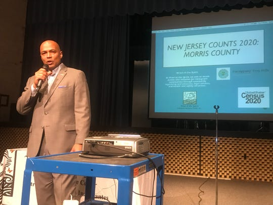 Parsippany Mayor Michael Soriano speaks during a meeting about the importance of the 2020 U.S. Census, at Parsippany Hills High School. Sept. 5, 2019.