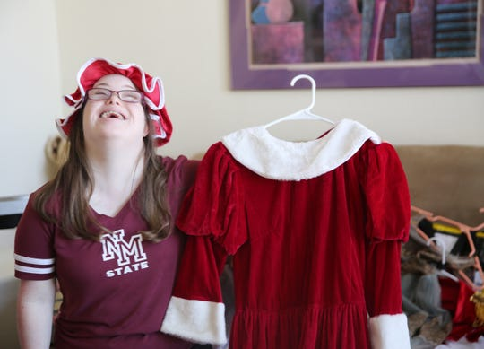 Las Cruces resident Michele Roybal, 20, remembers the time she played the roll of Mrs. Clause in a ballet recital, Friday Sept. 6, 2019.