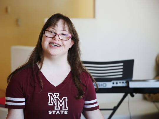 Las Cruces resident Michele Roybal, 20, who has been singing since she was two years old, and performing in ballet's and theater productions from a young age, will be making her Time Square during the Down Syndrome Buddy Walk Sept. 14.