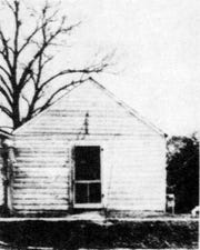 The office of Dr. Buster Littell on North Union Street in Opelousas shown just prior to its demolition on April 11, 1940.