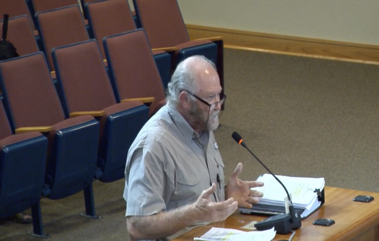 Edwin Henry speaks to the Santa Rosa County Board of County Commissioners on Thursday, Aug. 22, 2019.