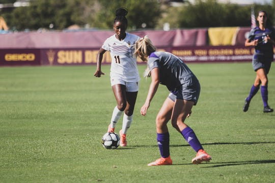 Lorato Sargeant, a transfer from Virginia, is starting at outside back for Arizona State soccer. She already has equaled her career scoring totals in three seasons with the Cavaliers.