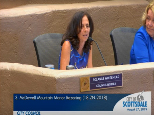 A former Scottsdale City Council member has filed a complaint against Councilwoman Solange Whitehead, alleging she used her position to pressure the city to drop a campaign finance complaint.