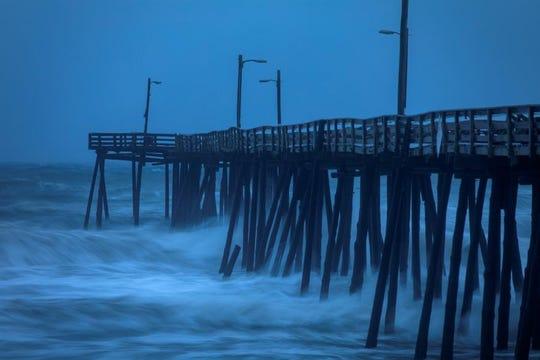 Dorian llegó a la costa de Carolina del Norte.