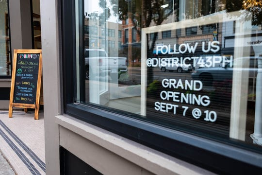 District 43 in downtown Port Huron is holding a grand opening at 10 a.m. Saturday, Sept. 7, 2019. The store is focusing on casual, business and evening shoes, as well as flip-flops and rain boots.