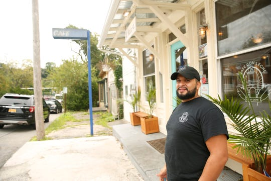 Café Con Leche owner Phil Cordero outside the cafe in New Hamburg on September 6, 2019. The cafe has run into zoning issues and may have to close or relocate depending on the Town of Poughkeepsie Zoning Board's decision.