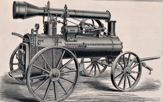 The Tiger Portable Steam Engine, made by Taylor Manufacturing Company in Chambersburg in 1884.
