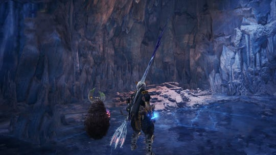 A hidden camp in Hoarfrost Reach in Monster Hunter World Iceborne.