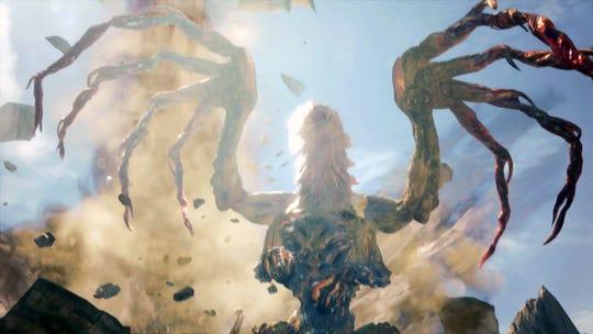 Shara Ishvalda raises its wings in Monster Hunter World Iceborne.