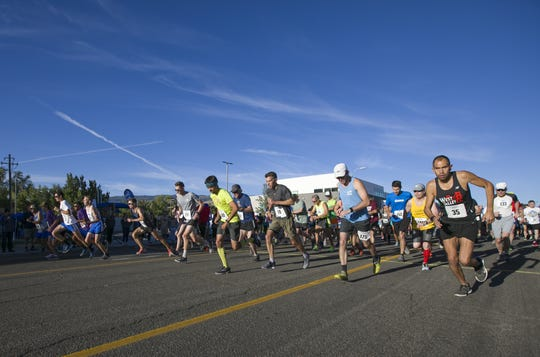 Runners start the 50th Annual Journal Jog in Reno on Sept 9, 2018.