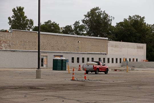Construction continues on Friday, Sept. 6, 2019, on the former County Market building on Richmond's west side that Reid Health is turning into a new clinic.