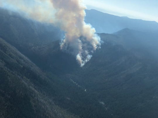 The Gopher Fire is 200 acres and burning in the Sky Lakes Wilderness of Southern Oregon.
