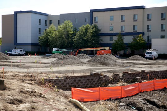 The site of a future hotel on Hawthorne Ave. SE near State St. in Salem on Sep. 6, 2019.