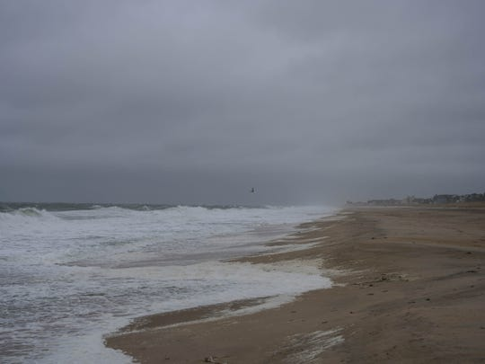 Rehoboth Beach was windy and rainy Friday morning as Hurricane Dorian moved northeast on Sept. 6, 2019. Coastal flooding and high surf conditions are expected along the Delaware coast.