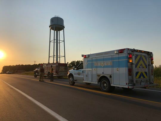 Authorities have blocked off the intersection of 250th Street and 470th Avenue to respond to an injury rollover crash, according to scanner traffic.