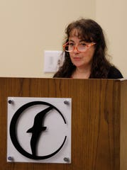Dana Carroll, Springfield's Child Advocate, spoke Friday in honor of David Stoeffler and the Every Child Promise.