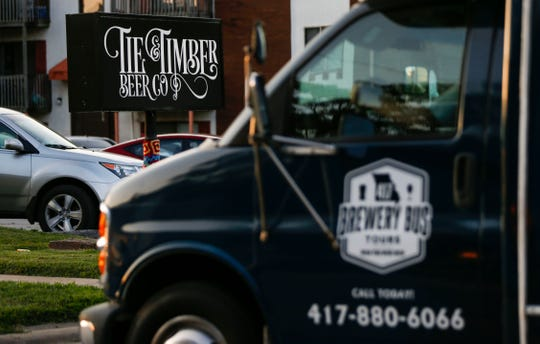 A bus from 417 Brewery Bus Tours at Tie & Timber Beer Company on Thursday, Sept. 5, 2019.
