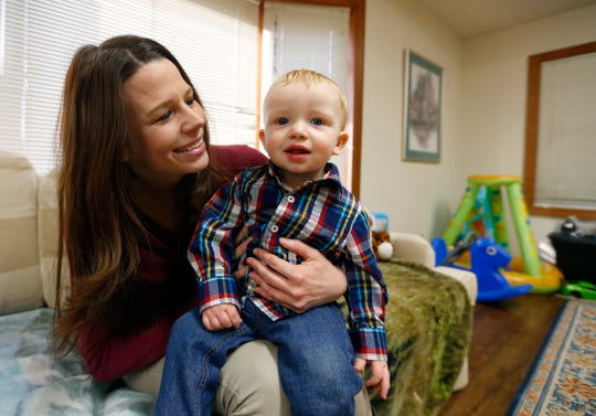Cassie Manning holds her son Liam in a file photo from 2016. He is 4 years old now.